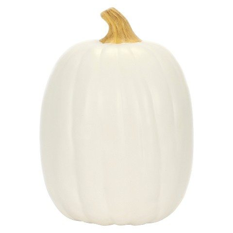 Carveable 13″ Cream Pumpkin