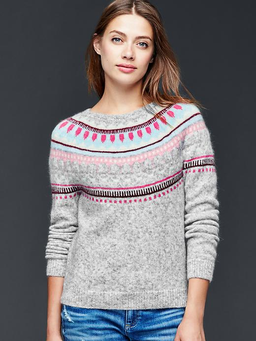 3. Circular Fair Isle Sweater