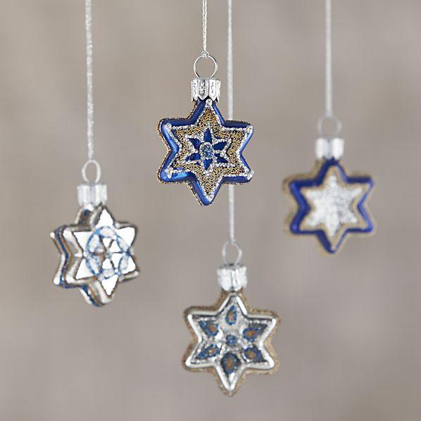 3. Glass Star Ornaments