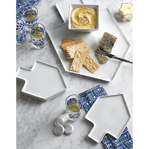 4. Dreidel Shaped Platters