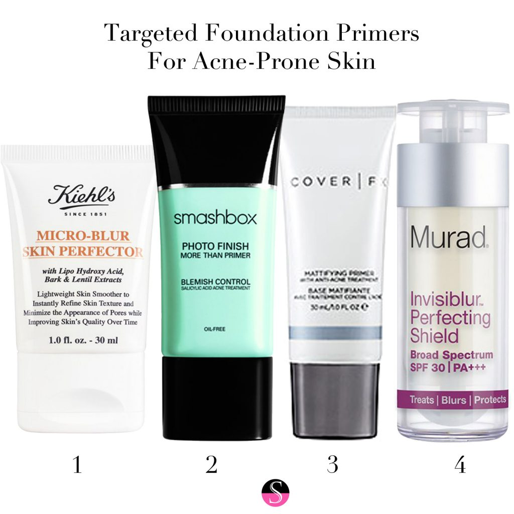 Targeted Foundation Primers For Acne Prone Skin Styled To Sparkle