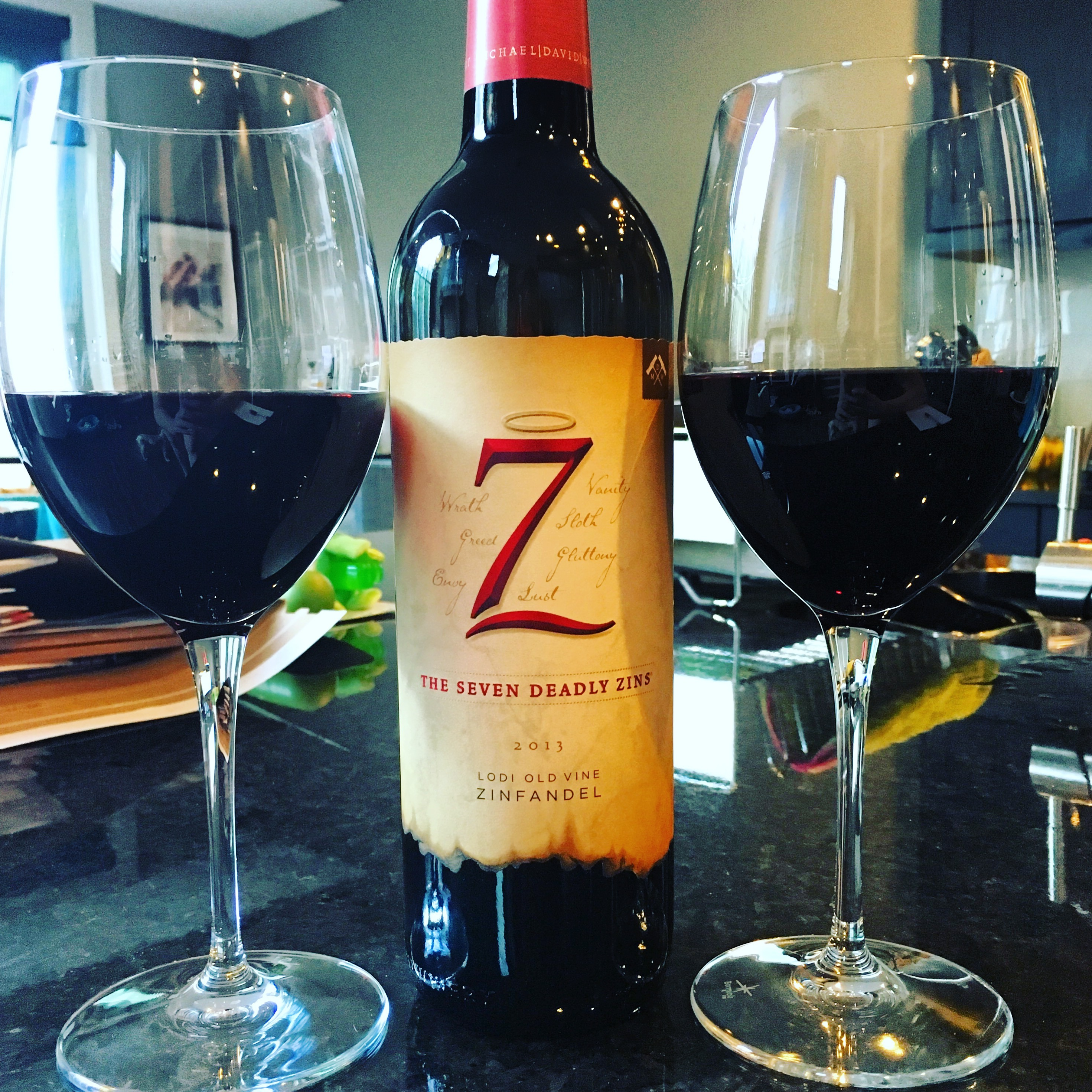 7 Deadly Sins Wine Glasses Wine Review 7 Deadly Zins California Zinfandel Blend Excellent