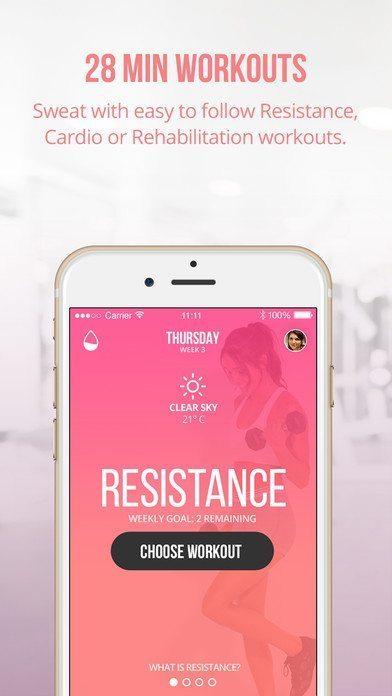 Sweat With Kayla App Screen Shot