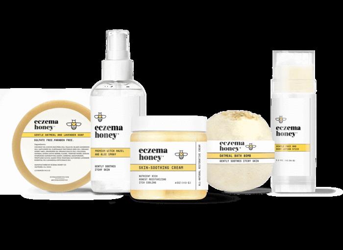 eczema honey, eczema relief, natural eczema products