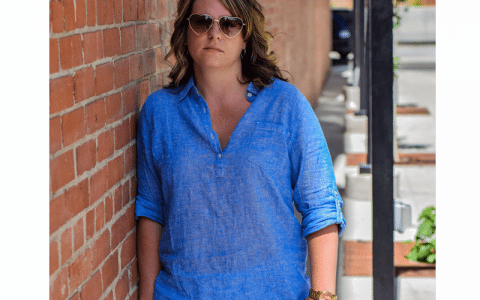 Blue Tunic | White Shorts | Summer Outfit | Linen | Street Style