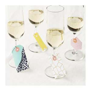 Champagne Glasses | Glass Markers | Wine Glass Tags