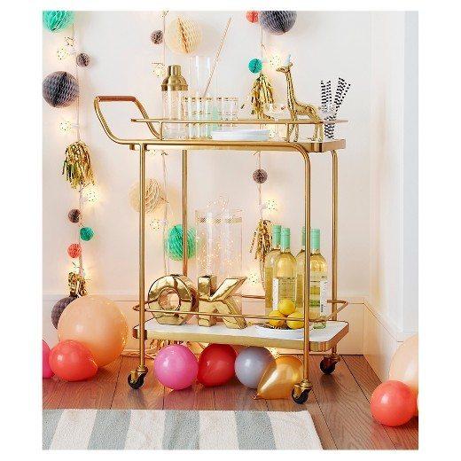 Gold Bar Cart | Party Cart | Bar Cart Inspo