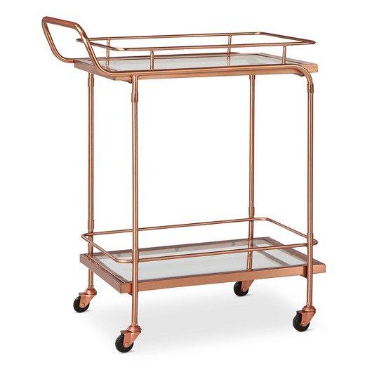 Rose Gold Bar Cart