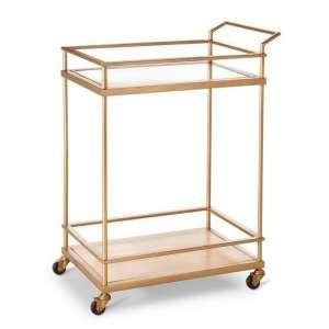 Gold Glass Bar Cart