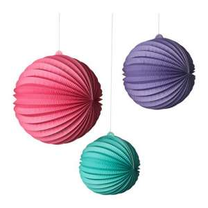 Red Green Purple Party Decorations