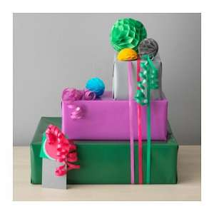 Gift Wrap | Colorful Wrapping | Bows | Round Bows
