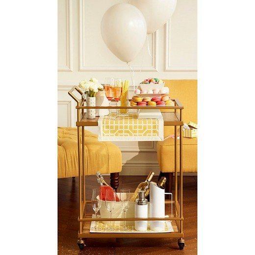 Brunching Bar Cart | Champagne | Chill bucket | Modern Bar Cart