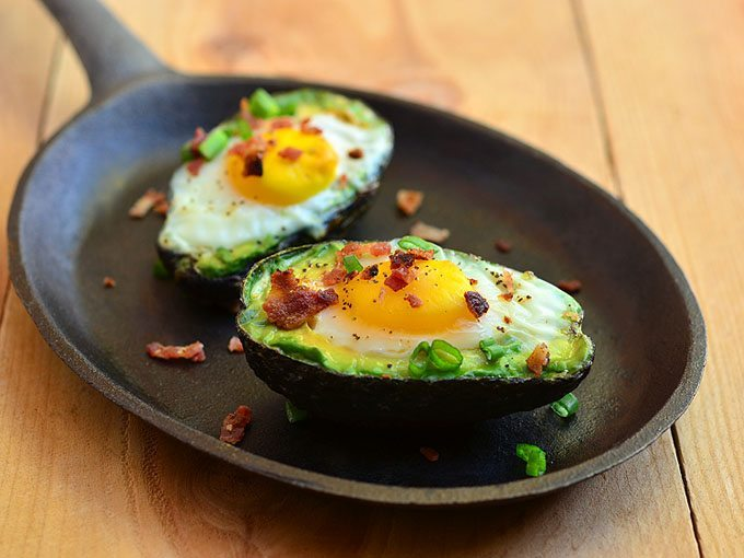 avocados with eggs