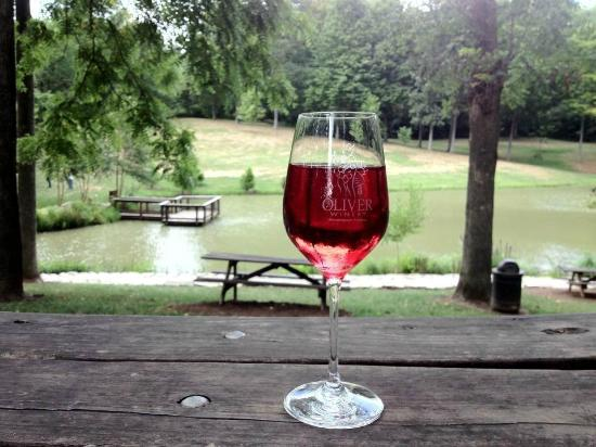 Oliver Winery Indiana | Wine Glass