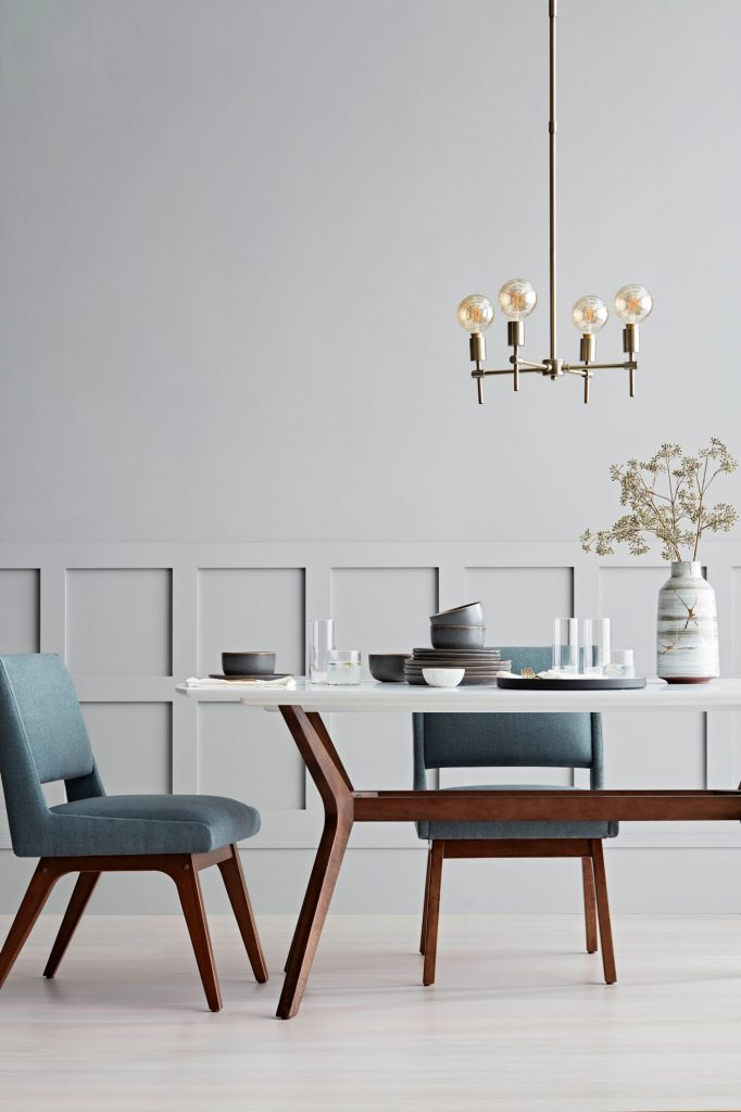 Target Project62 Dining Room | Dining Room Furniture | Pendant Light | Modern Furniture | Modern Decor | Blue Chairs