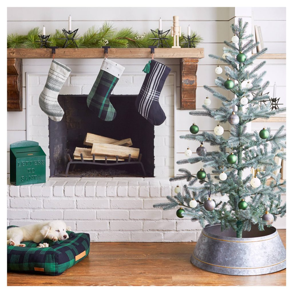 Hearth & Hand Christmas Fireplace Vignette