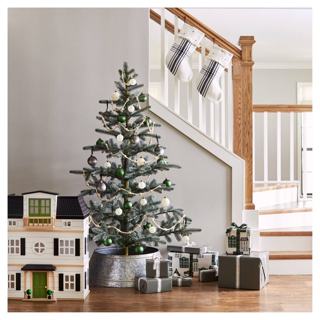 Hearth & Hand Holiday Tree Stairwell Vignette