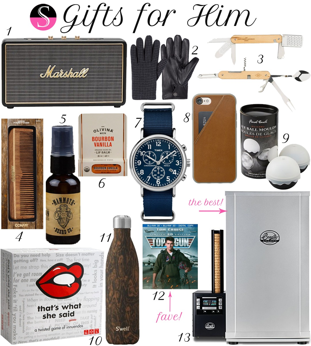 Gifts for Him | Gift Guide | Gifts for Men | Gift Guide | Stocking Stuffers | Gifts for Husband Brother Dad Father Boyfriend | Best Gifts for Men
