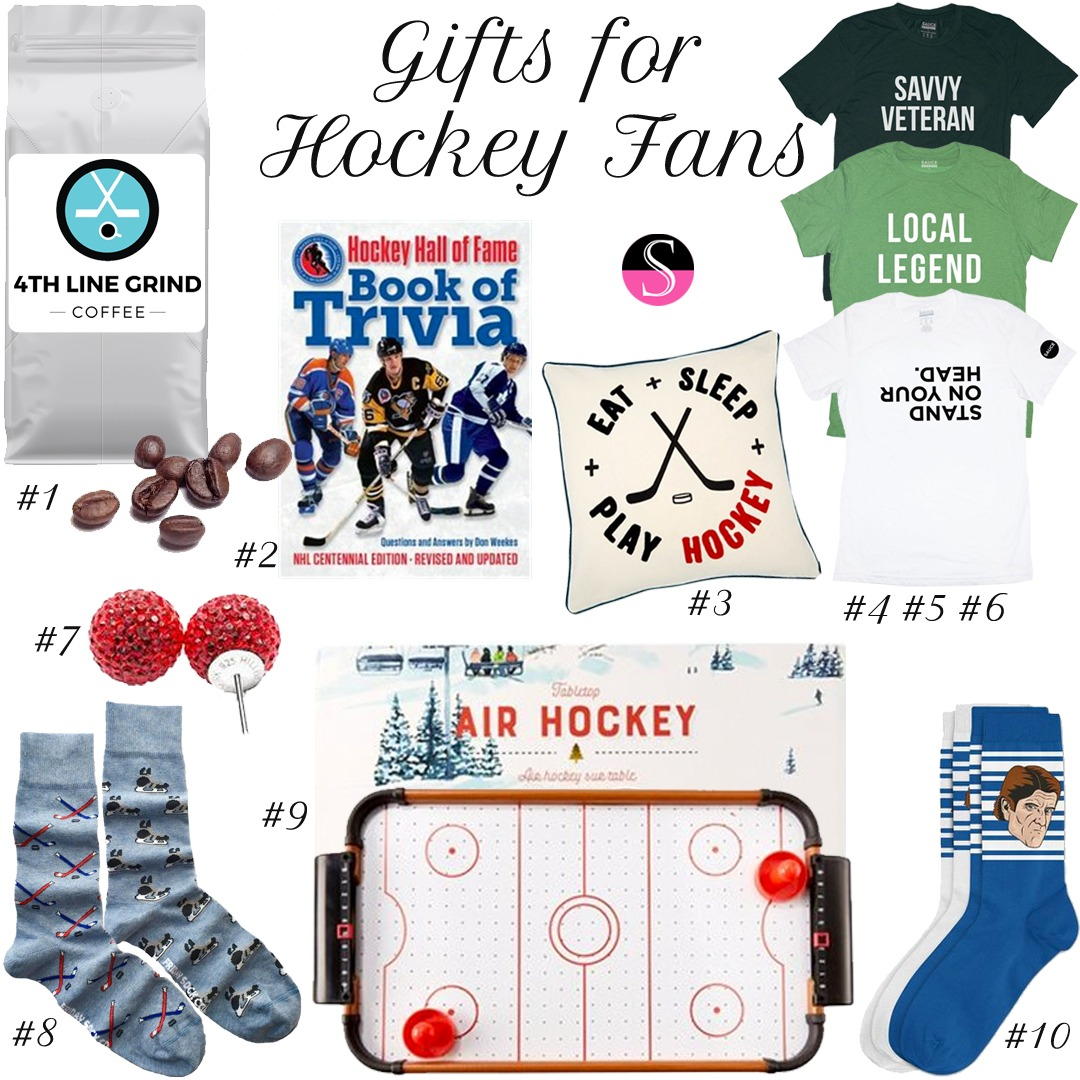 Gift Guide for Hockey Fans   Gifts for the Hockey Fan   Hockey Gifts   Hockey Fan   Sports Fan Gifts   Holiday Gifts   Stocking Stuffers