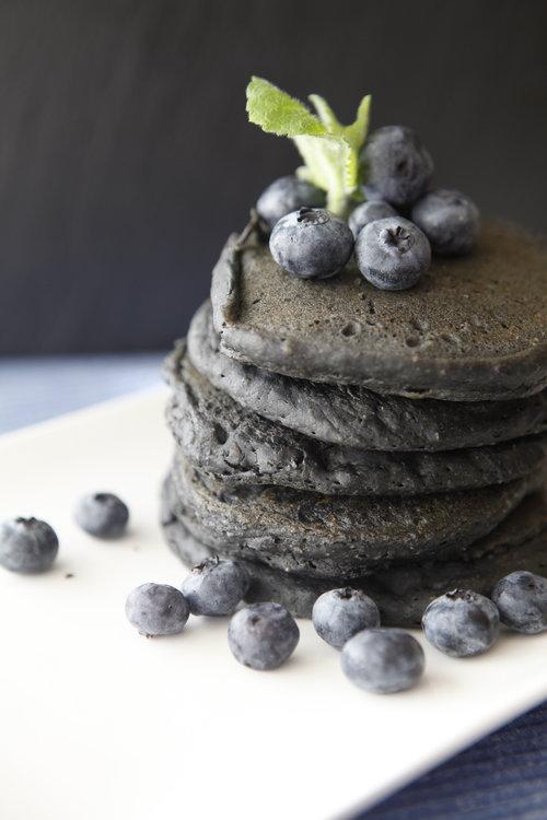 Charcoal Pancakes   Antioxidant Pancakes   Detox Pancakes   Pancake Recipe   Charcoal Pancake Recipe   Black Pancakes