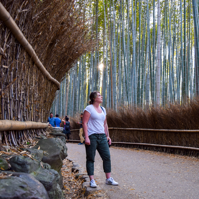 what to pack for japan, bamboo grove, arashiyama, hiking in japan, outfit ideas, japan trip outfit ideas, japan trip outfit inspo, what to wear in japan, japan in spring, spring outfits japan, what to wear in japan in the springtime
