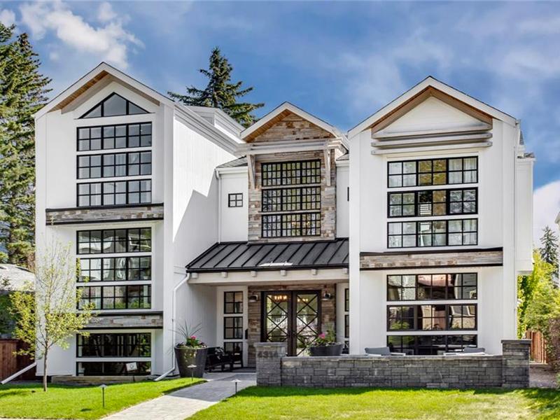 cool modern farmhouse exterior | The Maxwell: Trickle Creek's Newest Modern Farmhouse Home ...