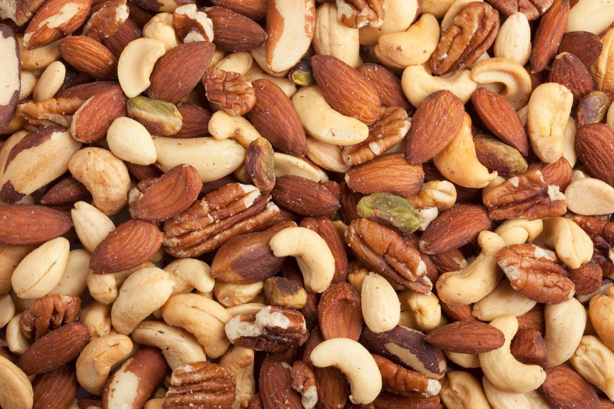 mixed nuts - what to pack for hiking