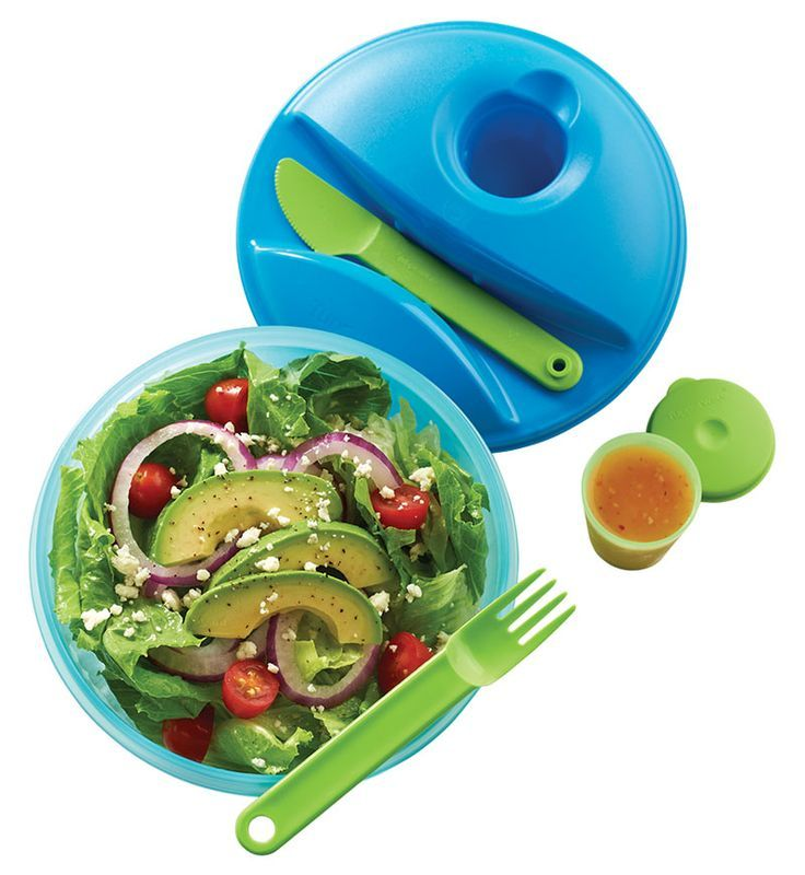 tupperware on the go salad set - what to pack for hiking