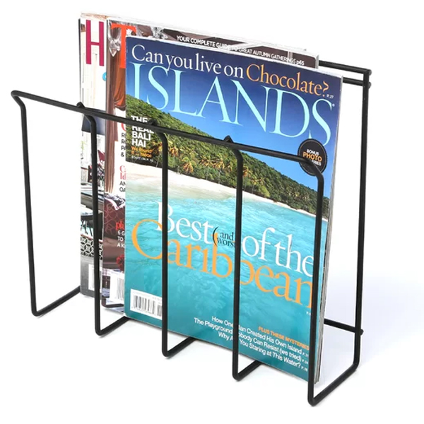 wall mount magazine holder, magazine holder for small spaces
