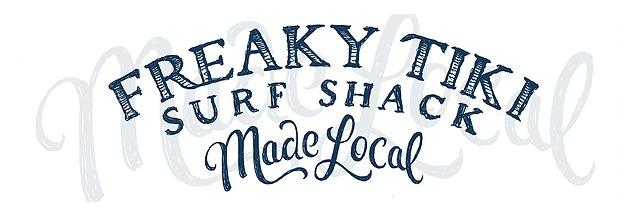 Freaky Tiki Surf Shack Logo Clearwater Beach Florida