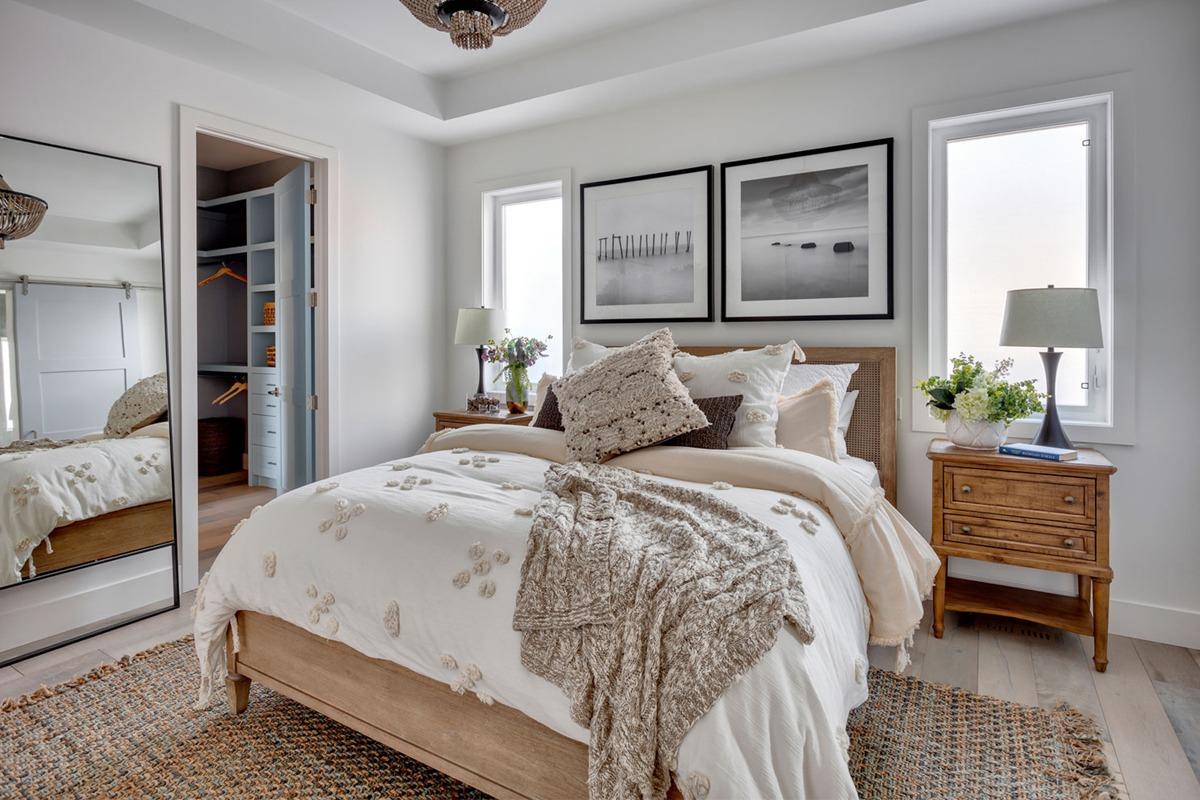 master retreat, master bedroom, master suite, calgary custom home builder, calgary luxury home builder, calgary infills, beach casual style, beachy bedroom, bedroom ideas, bedroom inspo, cozy bedroom