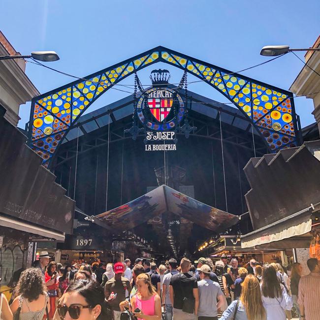 La Boqueria Market Barcelona, Mercat St Josep La Boqueria, things to do in Barcelona, where to eat in barcelona, where to experience catalan food, barcelona catalunya spain, best places to visit in barcelona, best places to eat in Barcelona, barcelona foodie destination, La boqueria gates