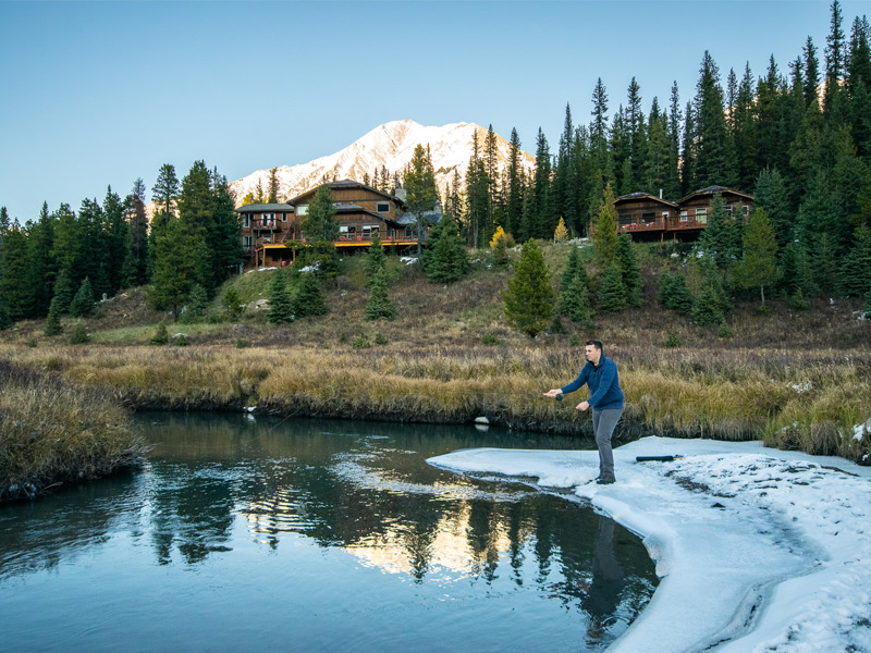 mount engadine lodge, where to stay in Kananaskis, hiking in kananaskis, things to do in kananasis, all inclusive hotel canada, where to stay in the mountains, mountain getaway, mountain retreat, where to stay in the canadian rockies, free white north, fly fishing kananaskis