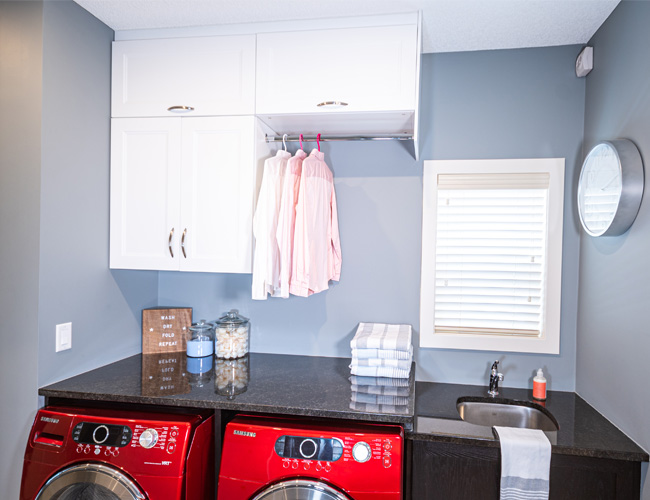 laundry room renovation, laundry room cabinetry, ikea cabinetry, walk through laundry room, laundry sink, custom laundry cabinetry, organized laundry room, laundry room renovation, how to renovate your laundry room, modern farmhouse laundry room, laundry room storage