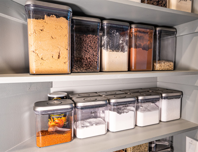 how to organize your pantry, pantry renovations, pantry organization, pantry design, pantry containers, bed bath beyond pantry, oxo pop containers