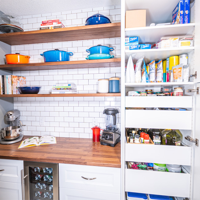 how to organize your pantry, pantry renovations, pantry organization, pantry design, pantry containers, bed bath beyond pantry