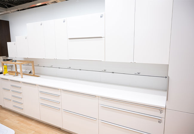 IKEA cabinetry, IKEA Kitchen Cabinets, how to buy IKEA cabinets, DIY kitchen cabinets, IKEA cabinetry review, IKEA cabinet display, IKEA cabinet in-store display, ikea pantry cabinet