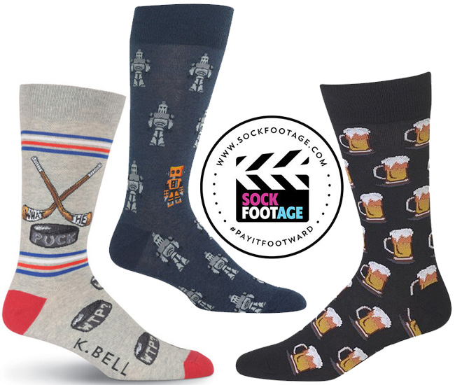 sock footage, gifts that give back, sock subscriptions, homeless charities