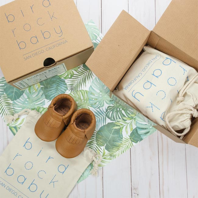 baby gifts that give back, baby gift ideas, gifts for new parents, gifts that support charities, charitable baby gift, unique baby gift, birdrock baby shoes, birdrock baby moccasins, baby shoes that give back, lifetime warranty baby shoes