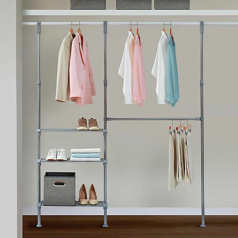 closet organization system, bed bath and beyond closet organizer, adjustable closet organizer, modular closet organizer, closet hanging system, removable closet system