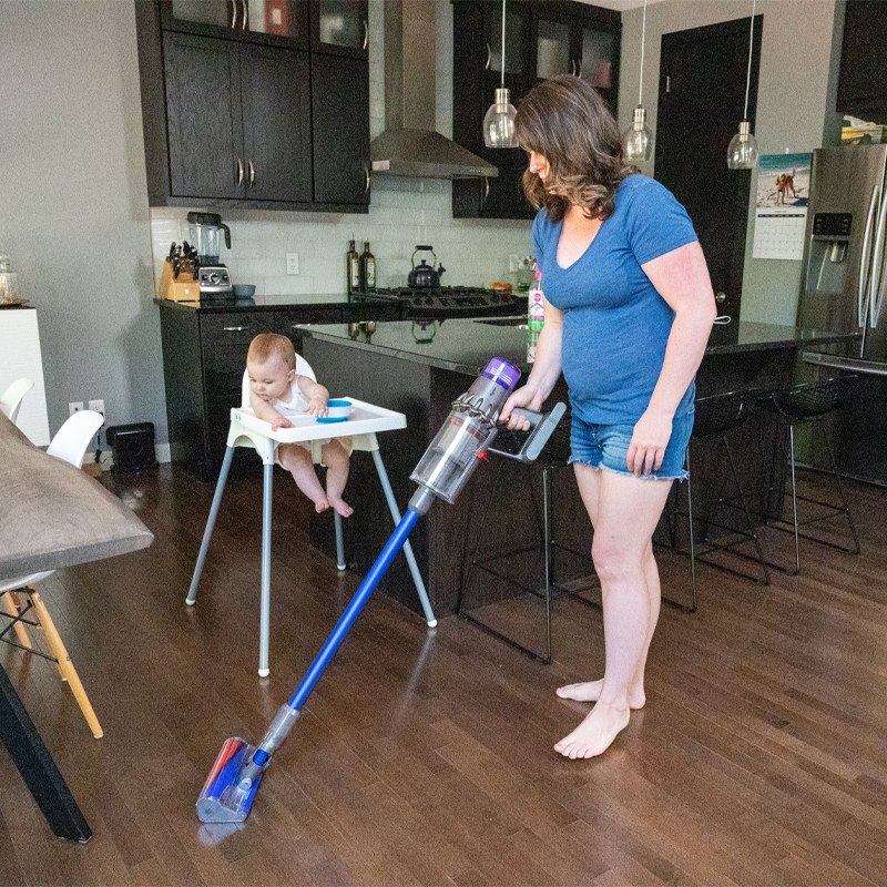 dyson v-11 review, safe cleaning products, non-toxic cleaning, cleaning up after baby, how to clean a high chair, how to clean a play area, sanitizing baby gear, how to sanitize a high chair, how to sanitize baby things