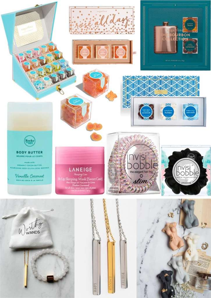 gifts for her, gifts for women, gifts for your sister, gifts for your mom, gifts for your daughter, one of a kind gifts, gifts for ladies, gifts for girls, gifts for your girlfriend, stocking stuffers for her, sugarfina candy gifts, luxe candy gifts, worthy wands, pardon my French candle co, hair ties