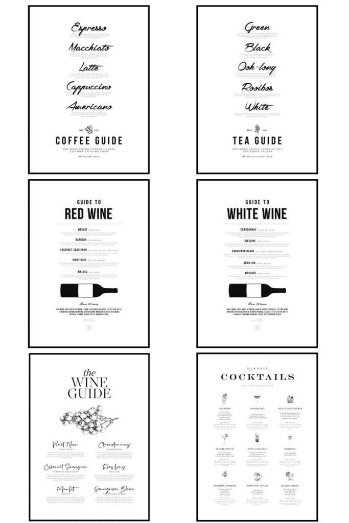 poster store, poster store promo code, art prints, decorating with art prints, wine art print, wine poster, cocktail poster, coffee bar art, tea art, coffee bar art work