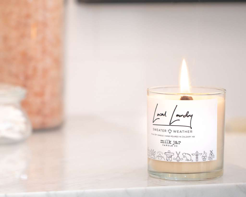 shop local yyc, holiday gifts from Calgary, shop local Calgary, shop local holiday gift ideas, local Calgary gift ideas, milk jar candle co, soy candles, hand Made candles, made in Calgary gifts