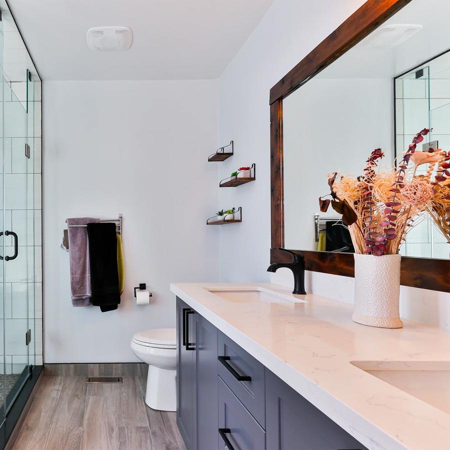 bathroom view of mirror