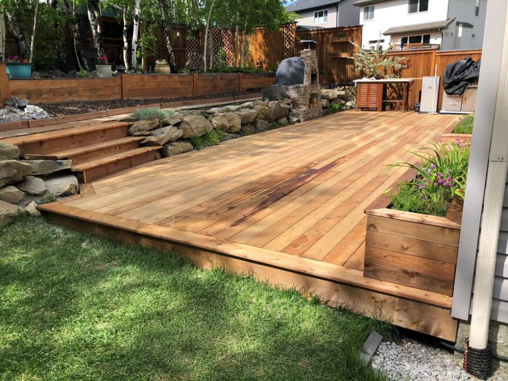finished deck area