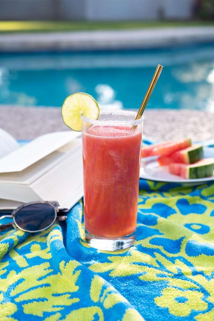 Hard Seltzer Watermelon Sugar Slushy, watermelon sugar high, watermelon cocktail, hard seltzer cocktail, hard seltzer cocktail book, frozen watermelon cocktail, best summer cocktails